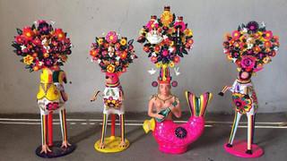Aniline Figures by Tiburcio Soteno $2,400 pesos each/cu (plus shipping (mas envio)