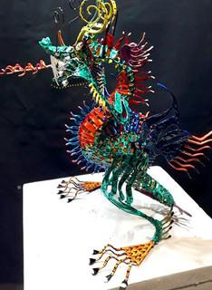 Metal Alebrije Dragon $5,850 pesos plus shipping (mas envio)