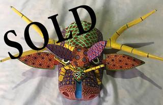 SOLD--Hand-carved wood mask $700 pesos plus shipping (mas envio)