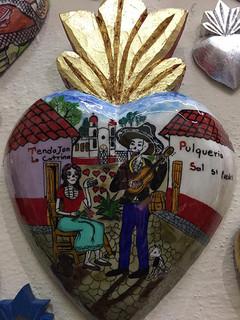 """Serenade"" Hand-painted Wood Heart $850 pesos plus shipping (mas envio)"