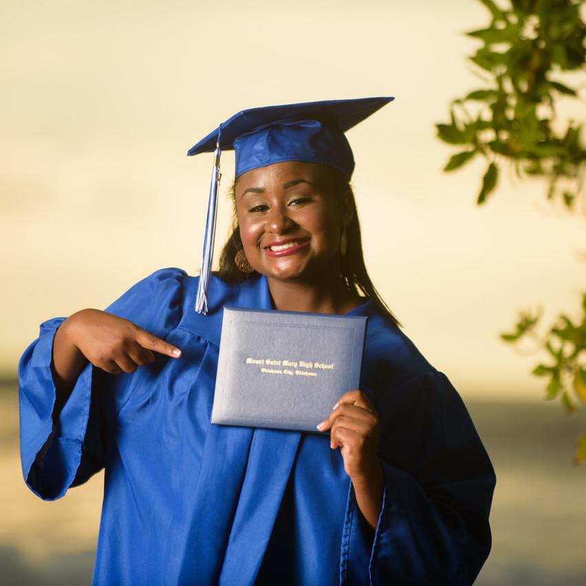 Graduation day photos at Langosta Beach
