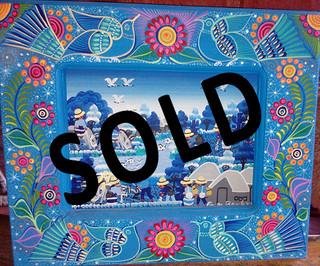 SOLD -- Nahuatl Painting $750 plus shipping (mas envio)