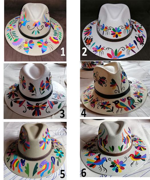 Otomi Painted Hats $720 pesos plus shipping (mas envio)