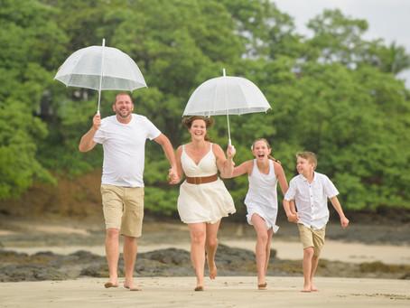 Chalmers Family Rainy Season Photoshoot in Costa Rica