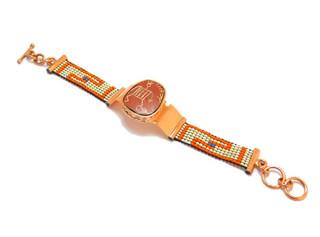 Copper Bracelet featuring Mata Ortiz Pottery Watch $585 pesos plus shipping (mas envio)