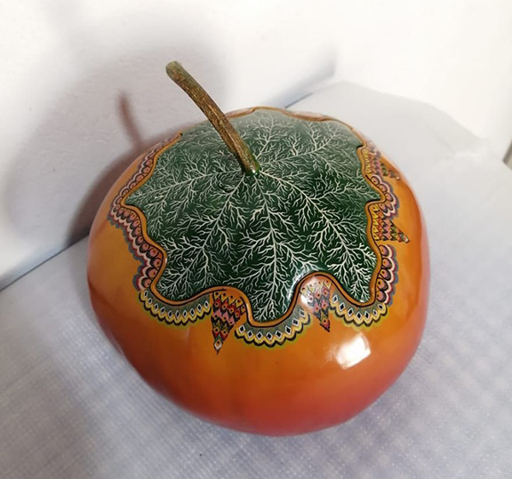 "Hand-painted Gourd ""G"" Jewelry Box $2,500"
