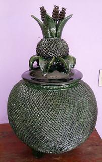 "Hilario Alejos Madrigal: Hand-crafted ceramic piña ""pellisco""$4,500 pesos plus shipping (mas envio)"