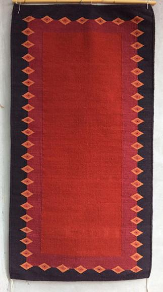 Rug Dyed with Grana Cochineal $5,000 pesos plus shipping (mas envio)