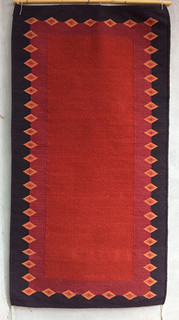 Rug Dyed with Grana Cochineal $5,000 pesos plus shipping (mas envio)