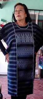 Hand-Woven Navy & Light Blue Huipil $1650 pesos plus shipping (mas envio)