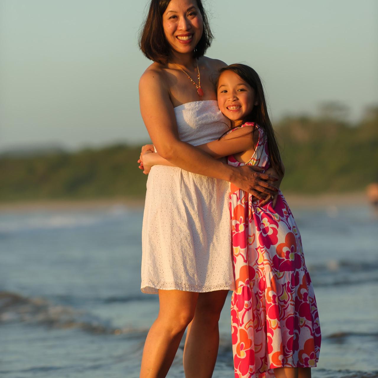 Hugs and smiles on the beach at Hacienda Pinilla