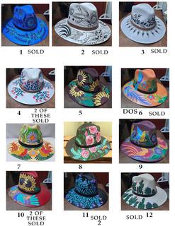 Hand-painted Hat $300 pesos plus shipping (mas envio)