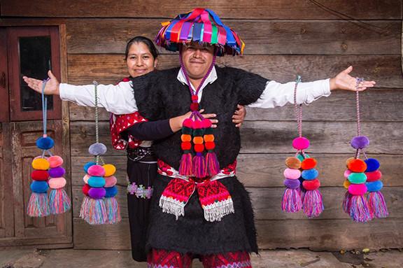 Feliciano & his wife, Concha, showing off their borlas