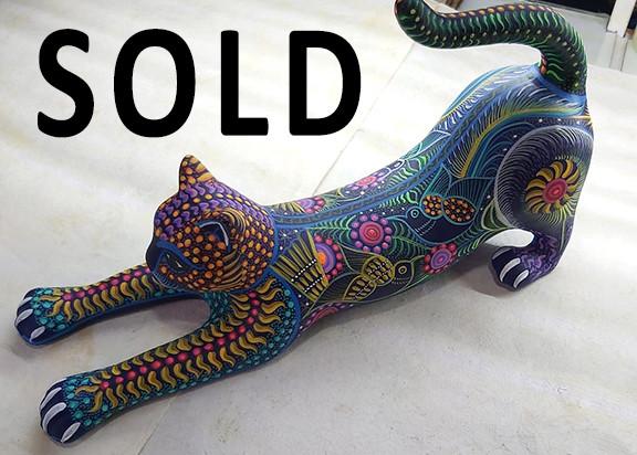 SOLD-Cat — Large: 25 cm long x 20 cm tall $1,500 pesos plus shipping (mas envio) Medium: 20 cm long x15 cm high $1000 plus shipping (mas envio) Small: 15 cm long x10 cm high $400 pesos plus shipping (mas envio)