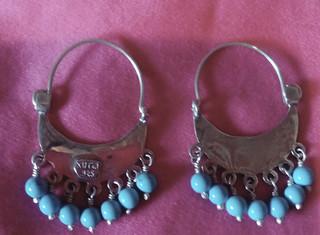 SOLD - Arracada Kutzi silver earrings $850 pesos plus shipping (mas envio)
