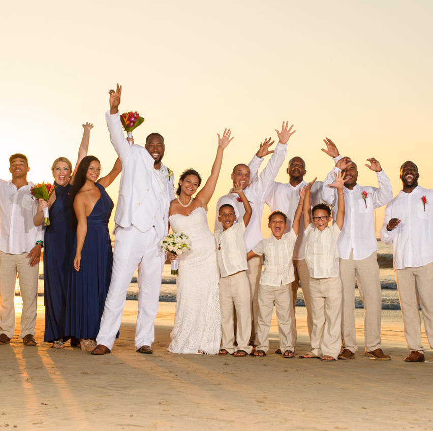 Celebrating with loved ones at Tamarindo Diria