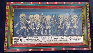 Ex-voto box/Las Calaveras $3,000 pesos plus shipping (mas envio)