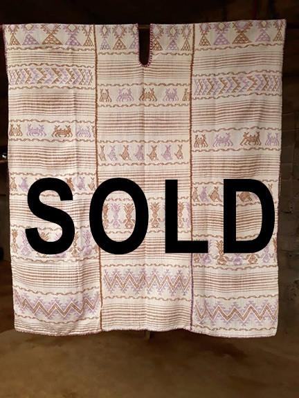 SOLD--Endangered: Coyuchi Cotton Huipil $9,000 pesos plus shipping mas envio)