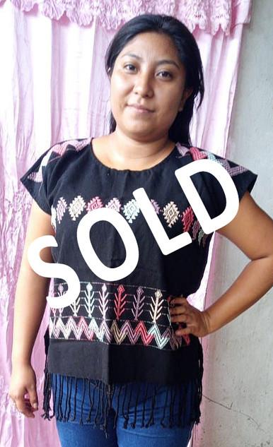 SOLD--Cotton Huipil $750 pesos plus shipping (mas envio)