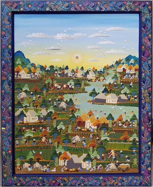 Nahuatl Painting $8,500 pesos (discounted from $9,500) plus shipping (mas envio)
