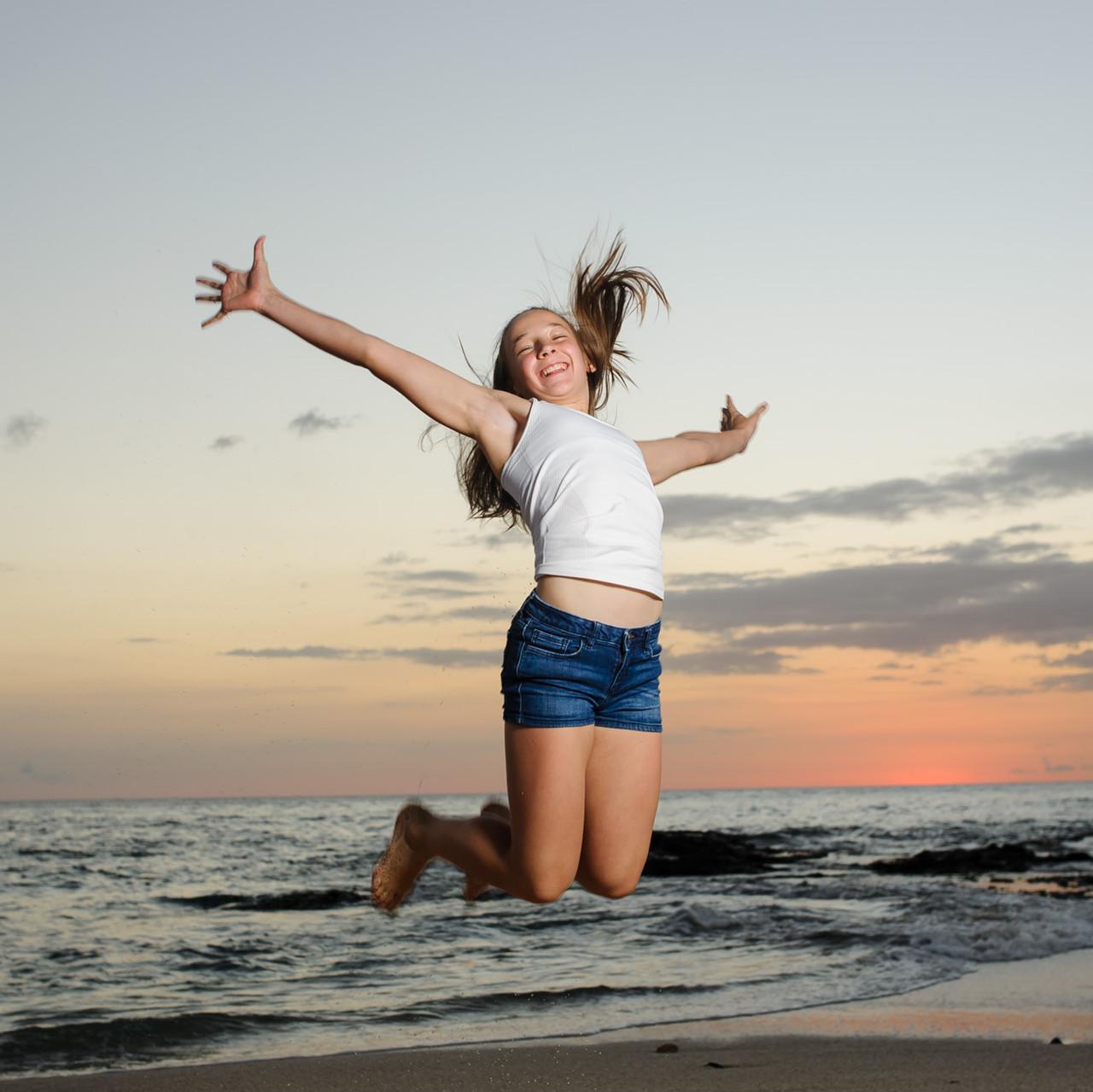 Always happy on Langosta Beach in Costa Rica