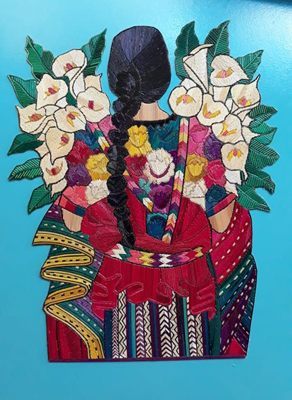 """Women with Lilies"" Popotillo $950 pesos plus shipping (mas envio)"