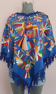 Poncho-style top with Otomi embroidery Small: $2800, Med: $2950, L & and XL $ 3000 plus shipping (mas envio)