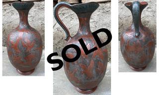 SOLD-Vase in Barro Esgrafiado $5,500 pesos plus shipping (mas envio)