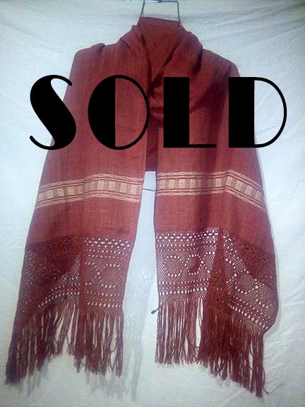 SOLD-Cotton Rebozo $1000 pesos plus shipping (mas envio)