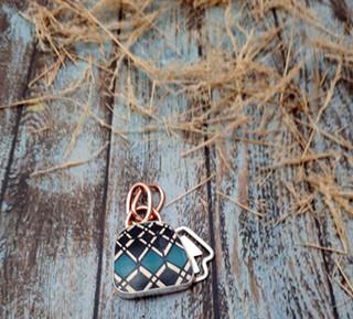 Silver Pendant with Mata Ortiz Pottery $850 pesos plus shipping (mas envio)