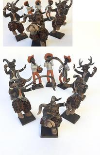 "Artist Fernando Peguero: ""The dance of the Devils"" $15,000 pesos plus shipping (mas envio)"