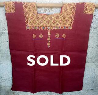 SOLD-Linen huipil $2,000 pesos plus shipping / mas envio