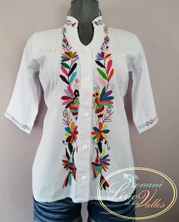 Men's Cotton Shirt with Otomi Embroidery $1500-1700 pesos plus shipping (mas envio)