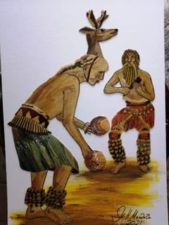 Popotillo Indigenous Dancers $1500 pesos plus shipping (mas envio)