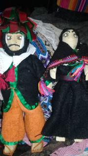 """""""Max & Wife"""" Handmade Dolls $500 pesos plus shipping (mas envio)"""