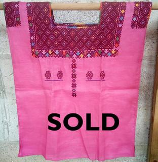 SOLD-Linen huipil $1800 pesos plus shipping / mas envio