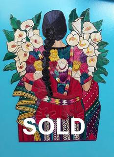 "SOLD-""Women with Lilies"" Popotillo $950 pesos plus shipping (mas envio)"