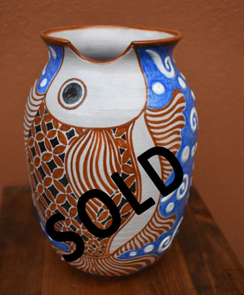 SOLD--Fish Jar - $1,200 pesos mas envio / plus shipping