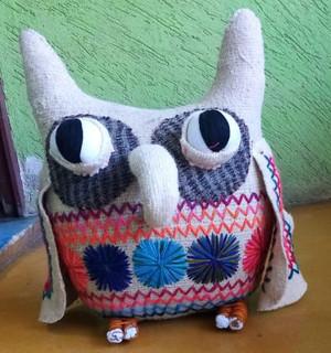 Handmade wool long-eared owl: Large $2,000, Medium $1, 500, Small $200 plus shipping (mas envio)