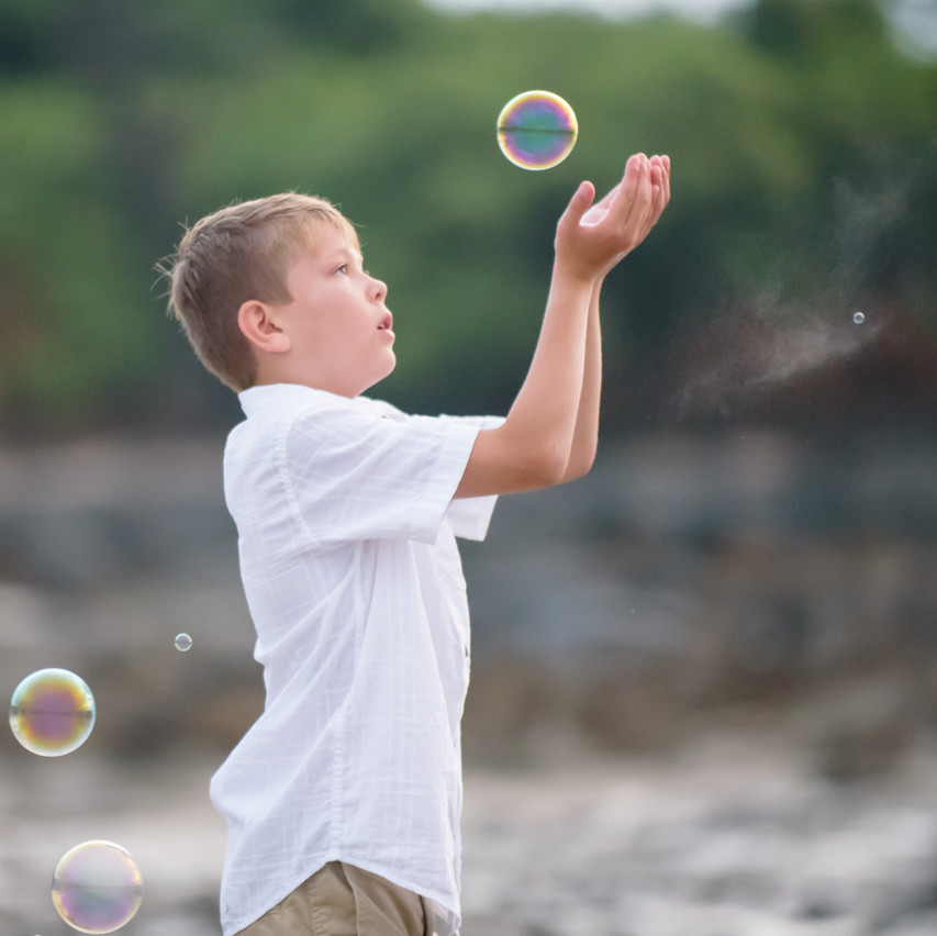 Catching bubbles after the rain in Tamarindo