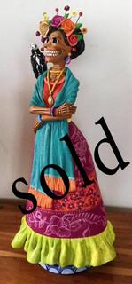 SOLD--Frida Kahlo Catrina by Blanca Jiménez $1700 pesos plus shipping (mas envio)