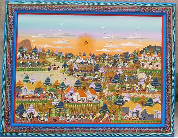 Nahuatl Painting $6,500 pesos (discounted from $7,500) plus shipping (mas envio)