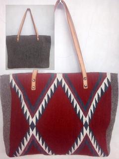 """""""Diamond Rhombus"""" Design Wool Bag $850 plus shipping (mas envio)"""