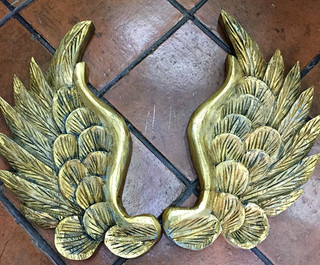 Hand-carved Wood Wings with Gold-leaf $1800 pesos plus shipping (mas envio)