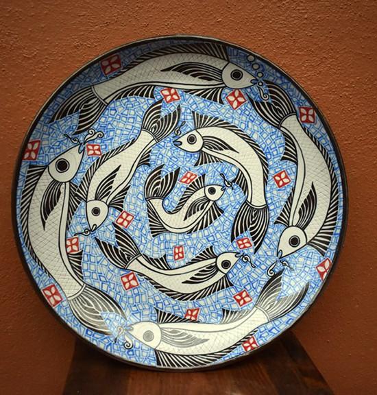 Plate - fish decoration $3,800 mas enviro / plus shipping