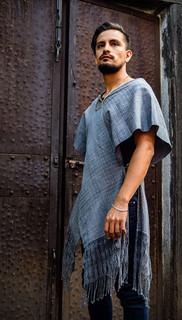 """Innovative Ikat """"poncho-style"""" garment $3,800 pesos plus shipping (mas envio)"""