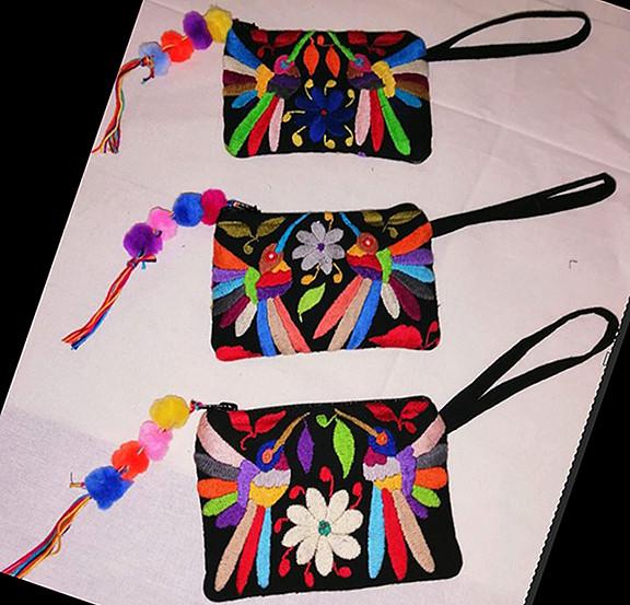 Otomi Hand-embroidered Cosmetic Bags $280 pesos each/cu plus shipping (mas envio)