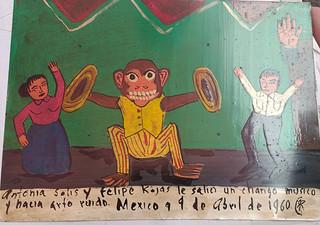 "Ex-Voto ""El chango"" $450 pesos plus shipping (mas envio)"