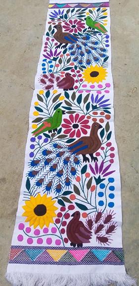 Hand-Embroidered Table Runner $1000 pesos plus shipping (mas envio)