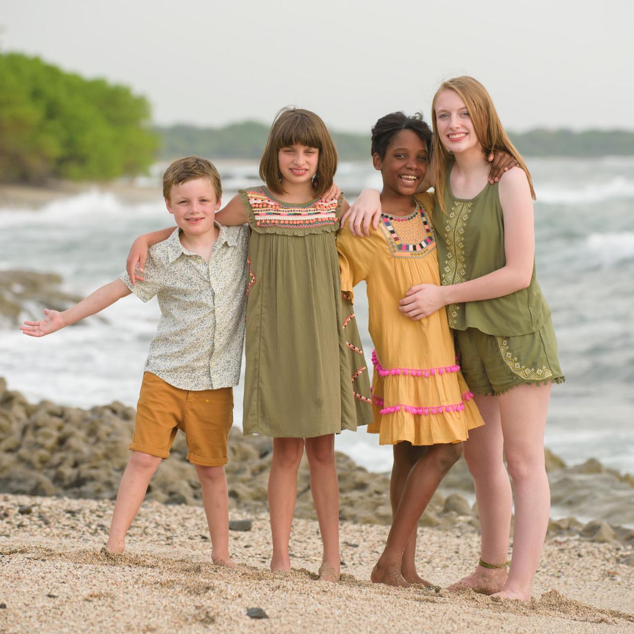 The kids at Cala Luna Playa Langosta